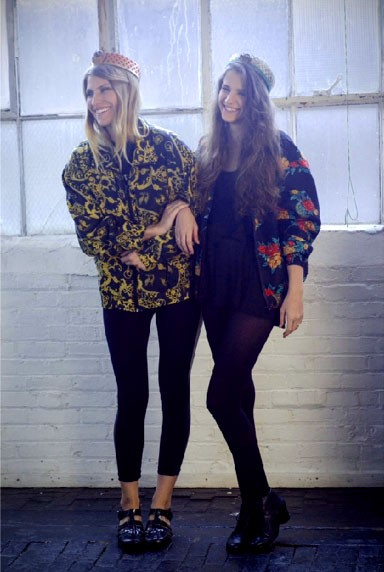 Models Nicolette Spiranovich (left) and Morgan Bulgar show off Cattitude's outfits. - JACKIE BON