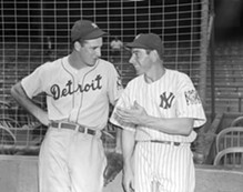 Hank Greenberg and Joe DiMaggio. - DONATED BY CORBIS