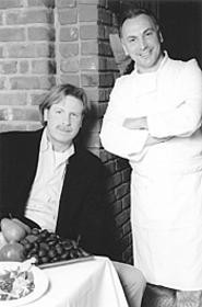 Marco Rossi (left) and Mario Marotta, the charming - heart of Aroma. - WANDA  SANTOS-BRAY