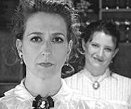 Mary Alice Beck (left) is Harriett and Maggie Arndt is - the naughty voice in her head.