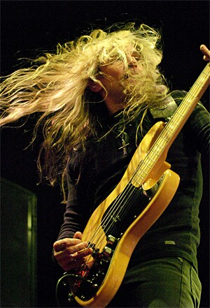 Megadeth's guitarist megashreds at Time Warner Cable Amphitheater. - WALTER NOVAK