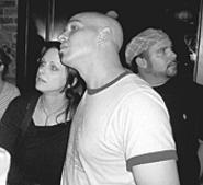 Michael Symon (with wife Liz), ogling televised asparagus. - ELAINE  CICORA