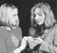 Mishandled with care: Diane Mull (left) stars as Egg, - with Laura Stitt as her neurotic mother.