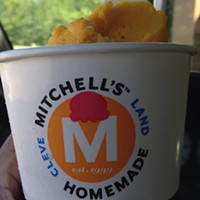 Cleveland Eats (and Drinks): 25 Things You Consumed this Week Mmmmm...#mango sorbet #mitchells #cleveland Photo Courtesy of Instagram User sunnyc216