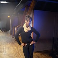 Cleveland's Got Style: Great Lakes Fashion Week Kicks Off With Accessory Show Model backstage wearing a scarf by Tashawna. Photo via Cecily Rus