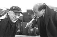 Moore (Hackman) and Bergman (DeVito), gasping through lame Mamet - dialogue