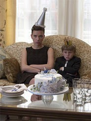 Nanny (Scarlett Johansson) thought caring for Grayer (Nicholas Art) would be a piece of cake.