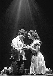 Nathan Scherich and Stephanie Iannarino in West Side  Story.
