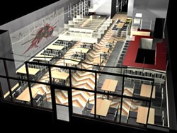 A 3D RENDERING OF DINING ROOM