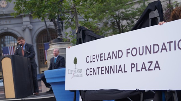 """Joe Cimperman is here using the word """"ethereal"""" to describe the Cleveland Foundation's major gift. - SAM ALLARD / SCENE"""