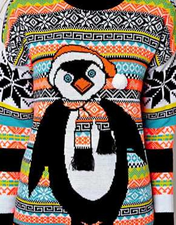 River Island Penguin Holiday Sweater, $72.60