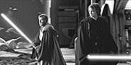 Obi-Wan (left) and Anakin deliver the best combat - from either trilogy.