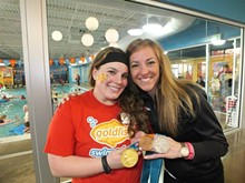 GOLDFISH SWIM SCHOOL - Olympic Gold Medalist Diana Munz at Safety Day 2014