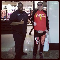 16 Swagalicious Shirts of Mall Guy Or in front of Victoria's Secret. Photo Courtesy of Danielle Honsaker via Instagram