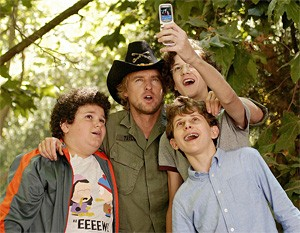 Owen Wilson's three charges watch him hang himself . . . comedically, that is.
