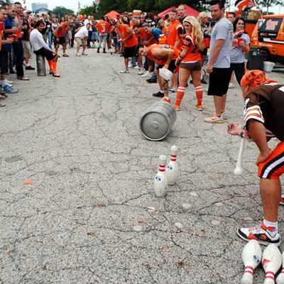 PHOTOS: Cleveland Browns Fans Celebrate the Home Season Opener at Municipal Lot