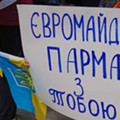 Photos from Today's Ukraine Rally at City Hall