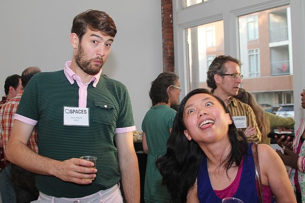 "Photos of the Opening Reception at SPACES for TAG: Round1, ""Apopheny – Epiphany: What is Random?"""