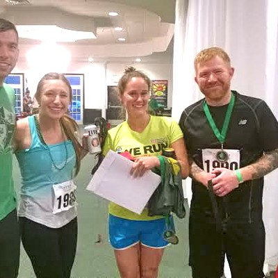 Photos of the Scene Events Team at the 1/2 Way to St. Patrick's Day 5K Post Party
