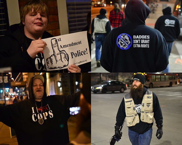 Pictures of Cop Block in Downtown Cleveland