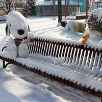 20 Photos of Snowy Ohio Amusement Parks Planet Snoopy, Kings Island Photo via Cedar Point, Facebook