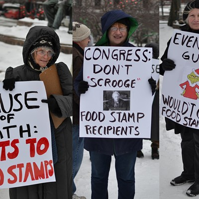 Protesting Against Food Stamp Cuts