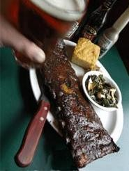 Ribs so tender, they fall off the bone as well as the plate. - WALTER  NOVAK