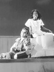 Richard Augustine and Brittany Spicer star as Peter - and Wendy.