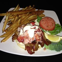The Top 10 Lobster Lover Dishes in Cleveland Rick's Café in the quaint village of Chagrin Falls is a culinary landmark in its own right. And it is dishes like the Lobster BLT that keep it successful. Served on a Kaiser roll  with fresh lobster, bacon, key lime mayonnaise and served with fries. Rick's Café is located at 86 N Main St, Chagrin Falls. Call 440-247-7666 or visit rickscafeandcatering.com for more information.