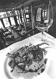 Romantic meals come easy at the Blue Point Grille. - WALTER  NOVAK