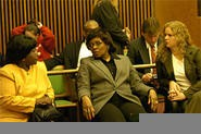Rosie Grier, Jacquie Maiden, and Kathy Dreamer (from left) took the fall for the board's illegal ways. - WALTER  NOVAK