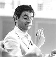 Rowan Atkinson, one of many key players going through the motions.