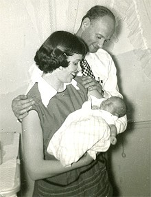 Ruth and Fred Wildau were elated to meet their adopted daughter for the first time.