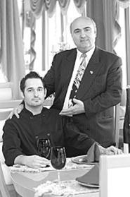 Sako Satka (right) and chef Brian Davis of Titanic: The - food is more than seaworthy. - WALTER  NOVAK