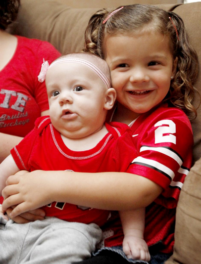 Scarlet Gray is pictured with her older sister Violet. - PHOTO COURTESY OF THE SANDUSKY REGISTER