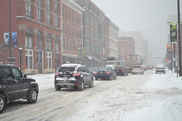 Scenes From A Snowstorm: Downtown Cleveland on Wednesday Morning (2/5/2014)