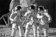 Self-portrait of a spaceman (Alan Bean, far right).