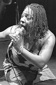 Sharon Jones, at the Dap-Kings' February 19 - Beachland show. - WALTER  NOVAK