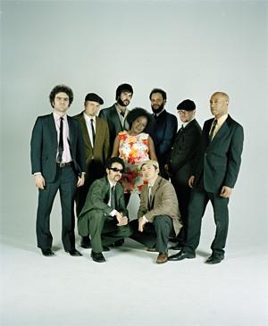 Sharon Jones with a bunch of Dap-Kings.