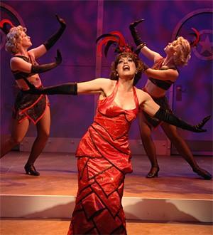 She's no angel: Sandra Emerick as nightclub singer Reno Sweeney.