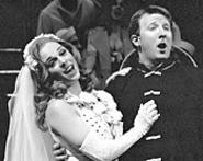 Shipboard romance finds Kelly Sullivan and Hunter - Bell in Anything Goes.