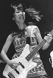 Shonen Knife bassist Michie Nakatani was all smiles - at the Beachland October 23. - WALTER  NOVAK