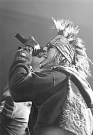 Shouting at the devil: Brides of Destruction frontman - London Le Grand, at the Odeon, May 13. - WANDA  SANTOS-BRAY