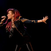 Singer Demi Lovato plays it safe at Quicken Loans Arena