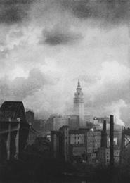 """""""Skyline,"""" by Margaret Bourke-White, silver gelatin print."""