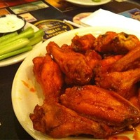 Fat Heads Brewery & Saloon: North Olmsted Smoke House Wings ($7.95), Fat Heads Brewery & Saloon, North OlmstedSix giant whole wings are smoked low and slow for hours, then tossed in Fat Heads dry rub and served with a side of Fat Heads honey chipotle. Photo via Yelp