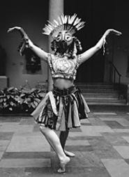 Somebody call Patrick Swayze! Detritus Dancing - takes over the art museum's Circle of Masks - (Sunday).