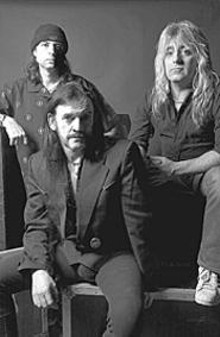 """Speed keeps you functional"" claims Lemmy Kilmister - (center)."
