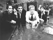 Spoon forked up the profits in 2005. From left: Eric Friend, Jim Eno, Britt Daniel, Roman Kuebler.