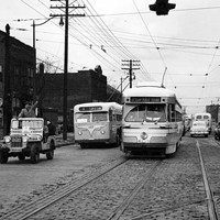 20 Photos of Old Cleveland Streetcars St. Clair and East 30th Street, circa 1951 Cleveland Memory Project